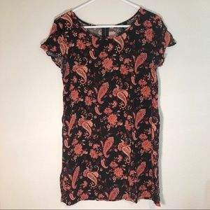 5/$25 Forever 21 black w/ flower T-shirt dress - M